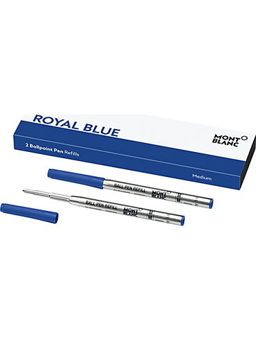Montblanc Royal Blue 2 Kugelschreiberminen Minen 124493