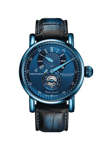Chronoswiss Herrenuhr Regulator Classic  Blue Steel CH-8776-BL