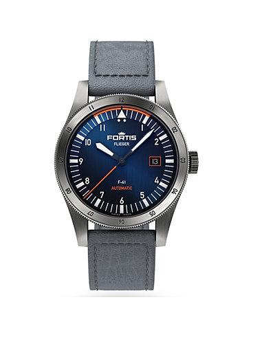 Fortis Herrenuhr Flieger F-39 Midnight Blue F4220011