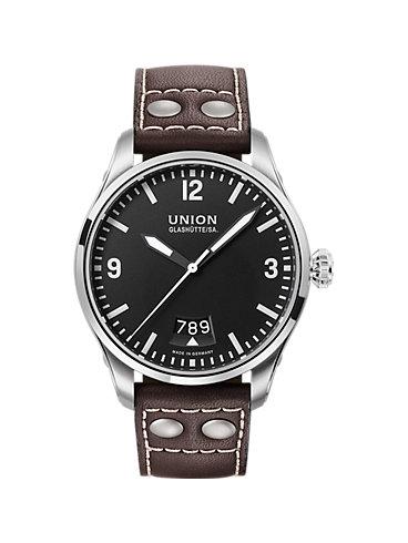 Union Glashütte Herrenuhr Belisar Pilot Datum Datum D0026071605700